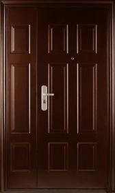 Стальные двухстворчатые двери