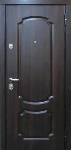 Описание темных металлических дверей