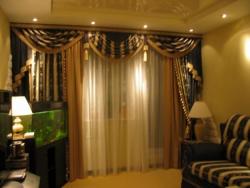 Декорирование окна с помощью штор