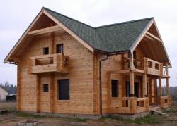 качественный дом из бруса профилированного