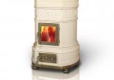 камин печь изразцовая